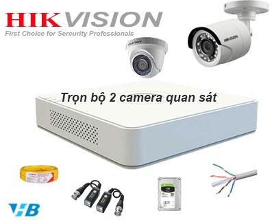 Bộ camera quan sát dùng lắp đặt camera trọn gói giá rẻ