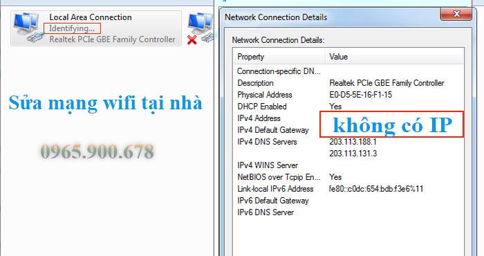 Sửa lỗi wifi không nhận địa chỉ IP