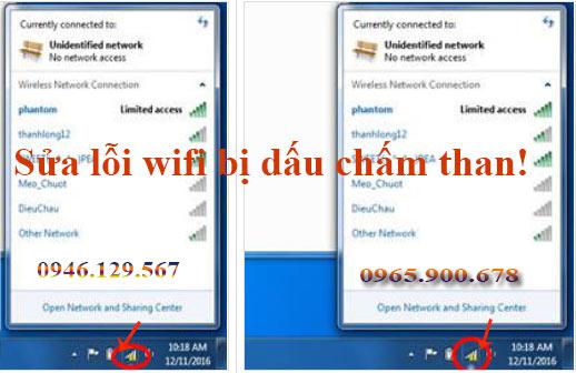 Sửa lỗi wifi bị dấu chấm than