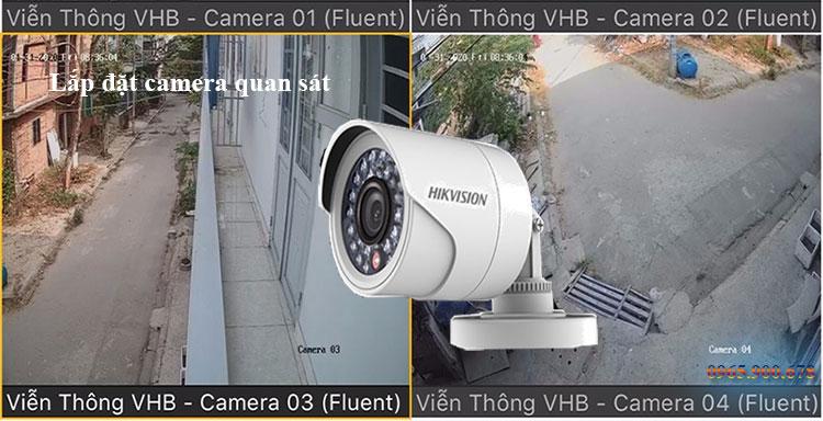 Hình ảnh lắp đặt camera tại quận 12