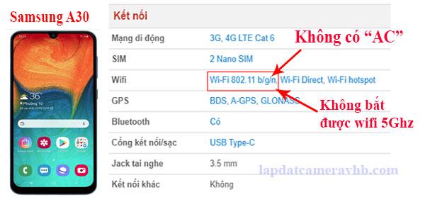 điện thoại không bắt được sóng 5.0Ghz