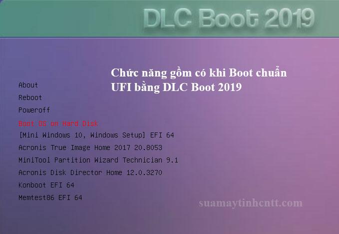 Test Boot UEFI Chuẩn DLC Boot 2019