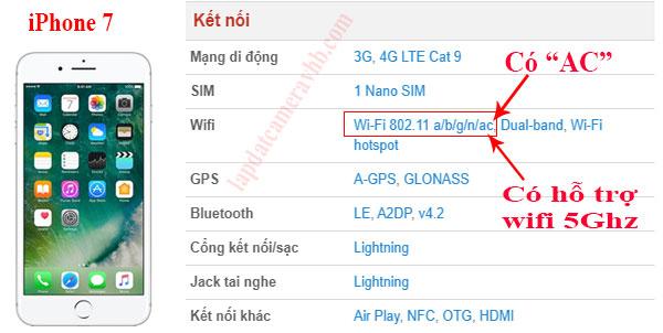 điện thoại một cái không có hỗ trợ sóng 5Ghz